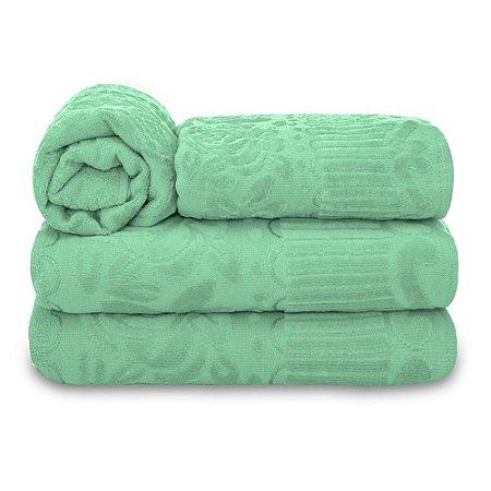 Jogo de Toalha de Banho 4 Peças Jasmim - Verde Claro