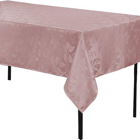 Toalha de Mesa Jacquard estampado 1,40m x 1,40m Rose
