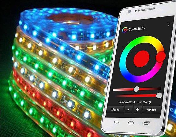 Kit RGB ColorLEDS Wi-Fi Fita  LED de 10 a 30m Fonte Única