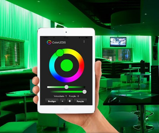 Kit RGB ColorLEDS Wi-Fi Fita LED de 10 a 30m Fontes Compactas