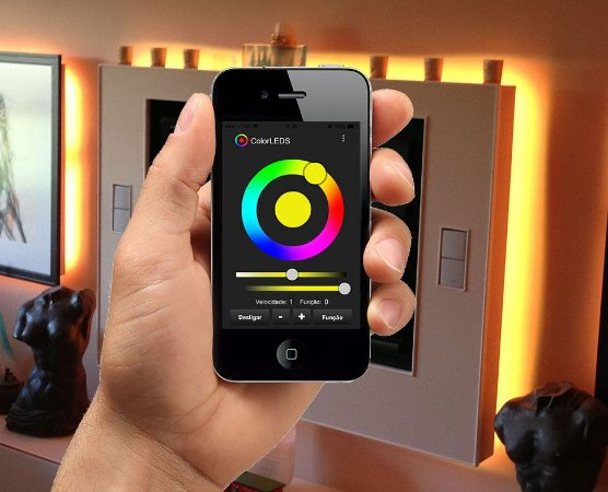 Kit RGB ColorLEDS Wi-Fi Fita LED 5 Metros