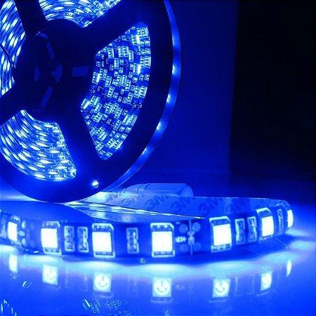 Kit Fita LED Azul 5050 IP65 com silicone 60 leds/metro - de 1m a 6m