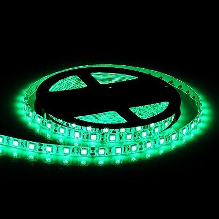 Kit Fita LED Verde 5050 IP65 com silicone 60 leds/metro - de 1m a 6m