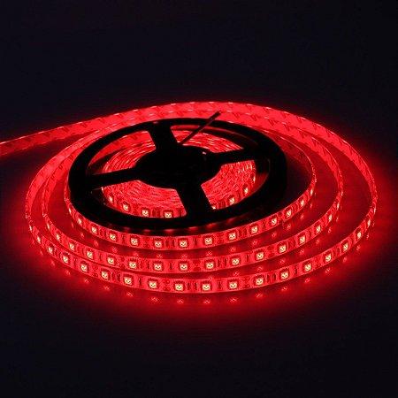 Kit Fita LED Vermelho 5050 IP65 com silicone 60 leds/metro - de 1m a 6m