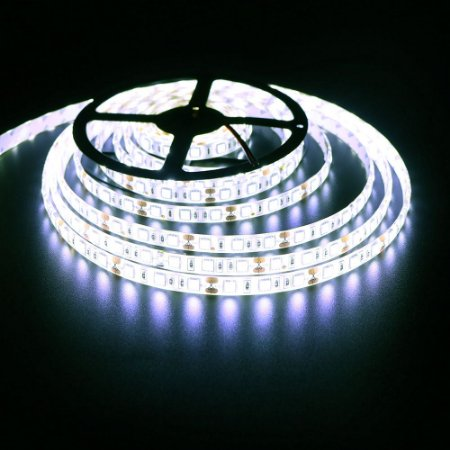 Luminária Aquário 3 x Fita LED Branco Frio 5050 IP65 com silicone 60 leds/metro - de 30cm a 1,5m