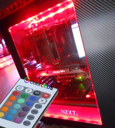 Fita Led RGB Computador Pc Molex com Controle Remoto