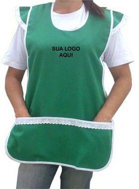 JOGO C/ 10 PEÇAS | AVENTAL BATA MANGA LESE OXFORD