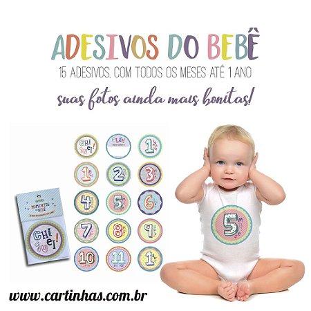 Adesivos do Bebê | KIT c/ 15