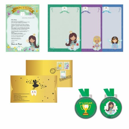 KIT Fada do Dente | Carta + medalha