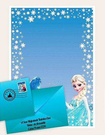 Cartinha Rainha Elsa Real