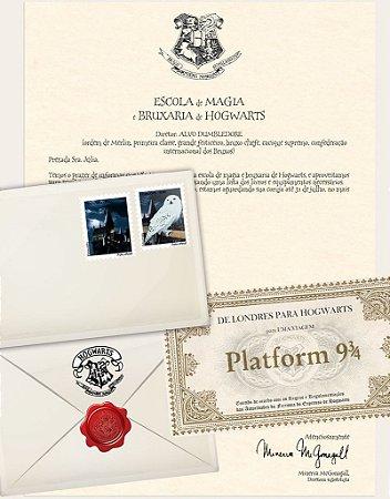 Cartinha Harry Potter | Bilhete Plataform 9 3/4 de BRINDE!