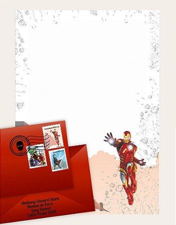 Cartinha Homem de Ferro | com 2 BRINDES!