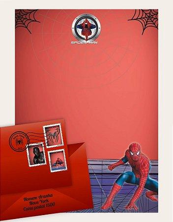 Cartinha Homem Aranha