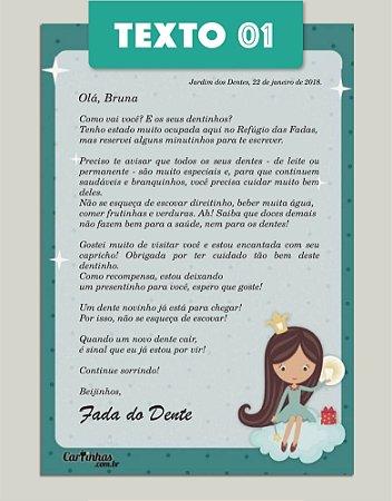 SUPER KIT Cartinha Fada do Dente | com 2 brindes!