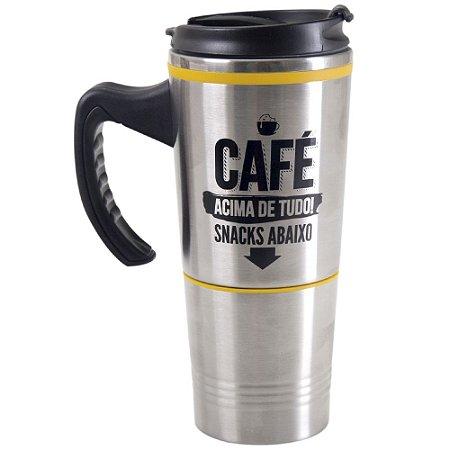 CANECA TERMICA SNACK - CAFÉ ACIMA DE TUDO