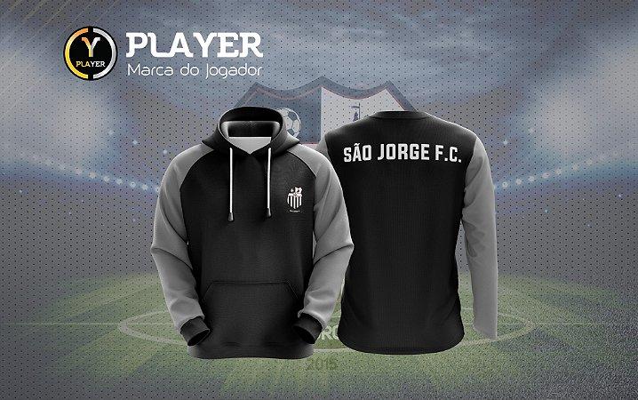 BLUSÃO MOLETOM CANGURU SÃO JORGE - PLAYER - Superloja do Futebol 615c132741a48