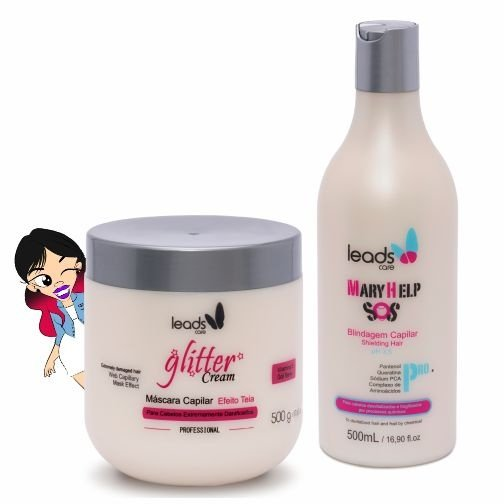 Tratamento Bomba ( S.O.S Mary Help 500 ml + Másc Glitter Cream 500 gr )