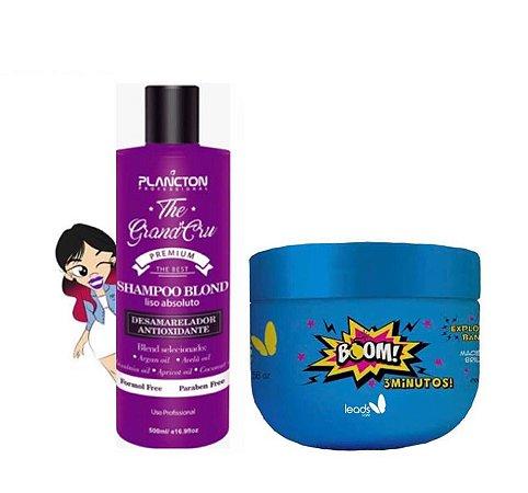 Shampoo Blond Liso Absoluto The Grand Cru 500 ml+ Máscara Boom 3 minutos 300gr