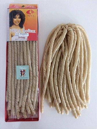 Nina Softex -  Fibra para Crochet Braids - Cor 613 Loiro - 40cm dobrado 80cm aberto