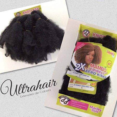 Marley Hair Curto- Janet Collection - Cacho 4C - 30cm - COR 01 Preto - 85 gramas - Fibra para Crochet Braids