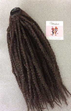 Rabo de Cavalo de Marley Hair com 01 Tic Tac para prender - Cor Castanho - 50cm - 60gr