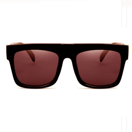 Oculos de Sol Quadrado Shadow Oversize Marrom Lente Degradê - CatEye ... 76e7425e5d
