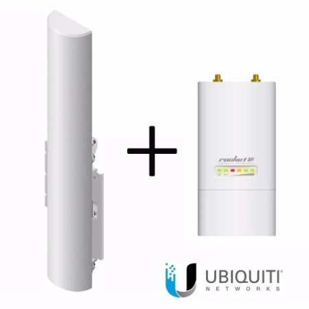 KIT - UBIQUITI - 01 Basestation Am-5g16 120º 16dbi + 01ROCKET AIRMAX M5 MIMO
