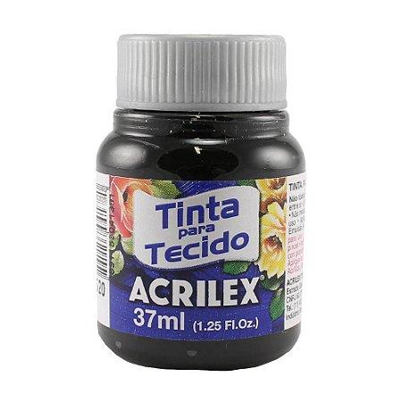 Tinta para Tecido Fosca 37ml Preto Acrilex