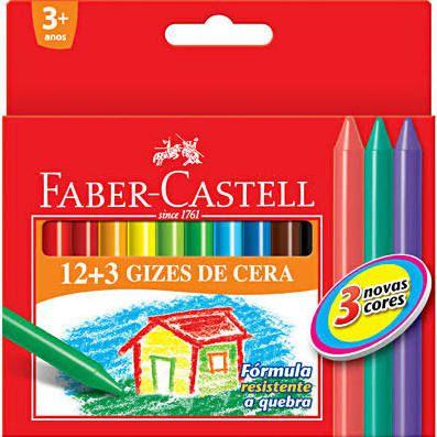 Giz de Cera 12+3 Cores Faber Castell