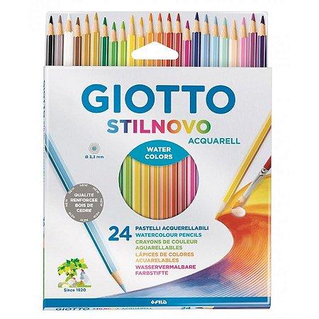 Lápis de Cor 24 Cores Acquarell Giotto
