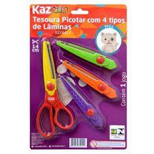 Tesoura para Picotar 4 tipos Kaz