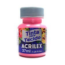 Tinta para Tecido Fosca 37ml Rosa Acrilex