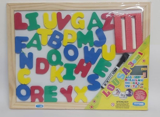 lousa 3 em 1- apapelina Para as crianças aprenderem brincando com a lousa 3 em 1.
