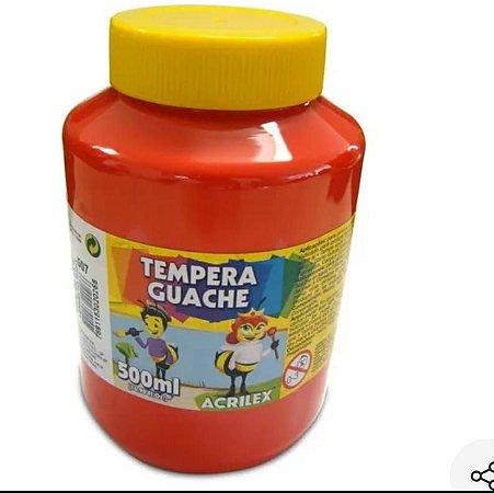 Tempera guache Acrilex cores 500ml