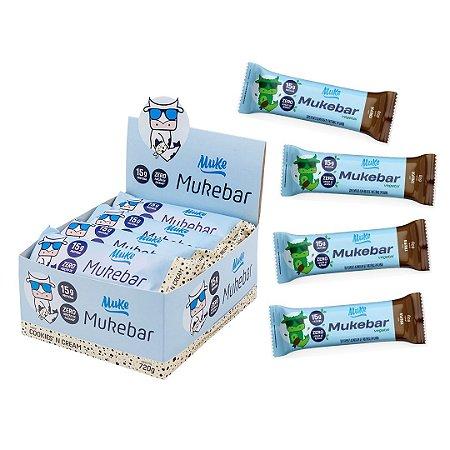 Mukebar Vegetal Muke - Trufa - 4 unidades + Mukebar Muke - Cookies'n Cream - Caixa 12 Unidades