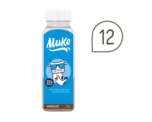 Pack 12 Garrafinhas de Chocolate Muke