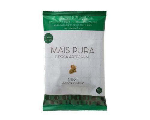 Pipoca Artesanal Mais Pura - Sabor Lemon Pepper 50g