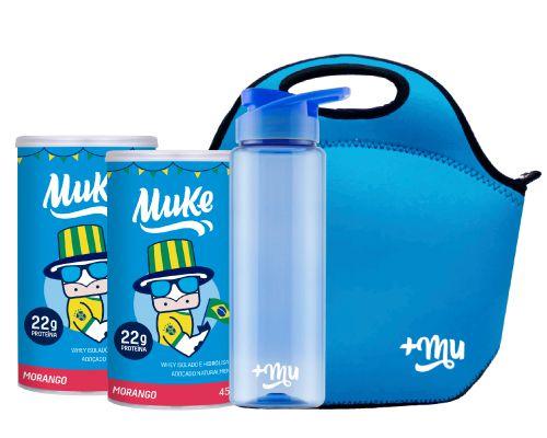 Compre 2 Potes Muke Morango - Ganhe 1 Coqueteleira e 1 Bolsa Térmica