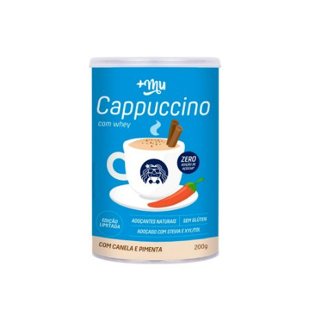 Cappuccino +Mu (com Whey, Canela e Pimenta) - 200g