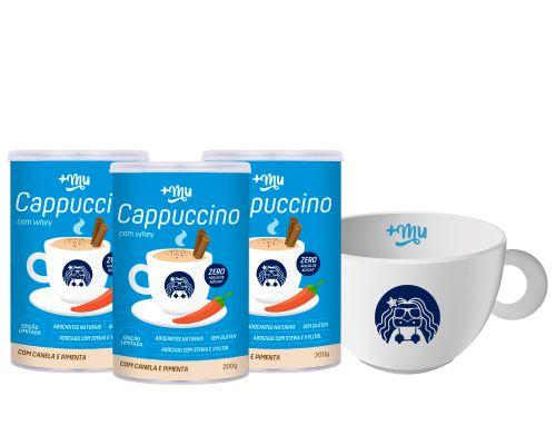 Compre 3 Cappuccinos com Canela e Pimenta - Ganhe 1 Xícara Personalizada +Mu