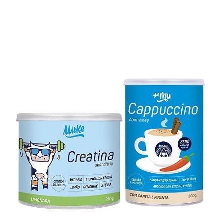 1 Pote de Creatina de Limão e Gengibre Muke + 1 Cappuccino +Mu