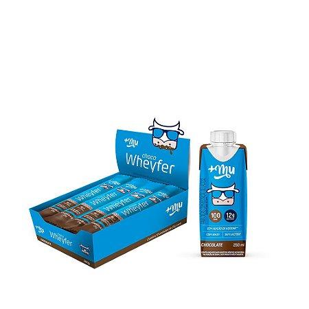 Combo 1 Caixa com 12und. de Chocowheyfer sabor Chocolate + Lançamento +Mu Pronto sabor Chocolate