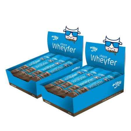 Chocowheyfer +Mu Chocolate (2 Caixas de 12 unidades) 300g | +Mu Snacks
