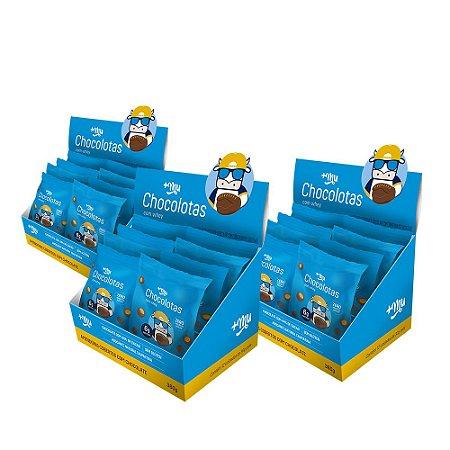 Chocolotas +Mu Amendoim (3 Caixas - 36 Pacotinhos) 360g | +Mu Snacks - Validade 30/11