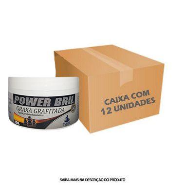 Graxa Grafitada POWER BRIL 250g - Caixa com 12 unidades