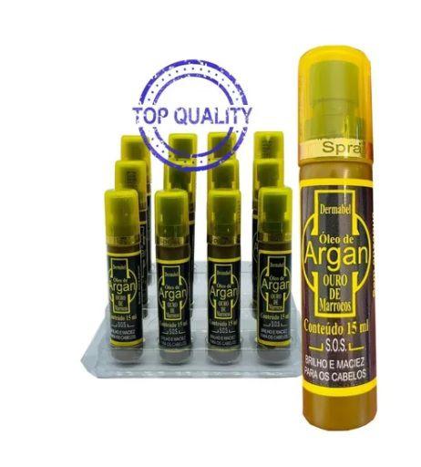óleo de Argan - Brilho e Maciez para os cabelos - 15ml com 12 unidades