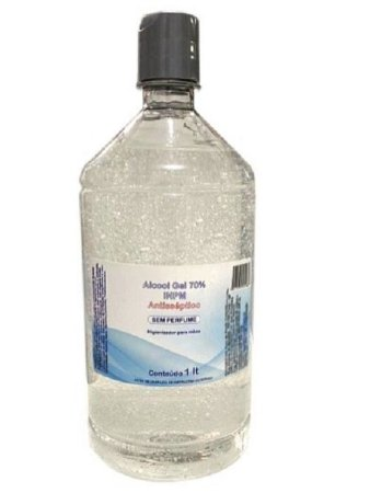 Álcool Gel 70% 1 Litro - Dermagel - 1 unidade