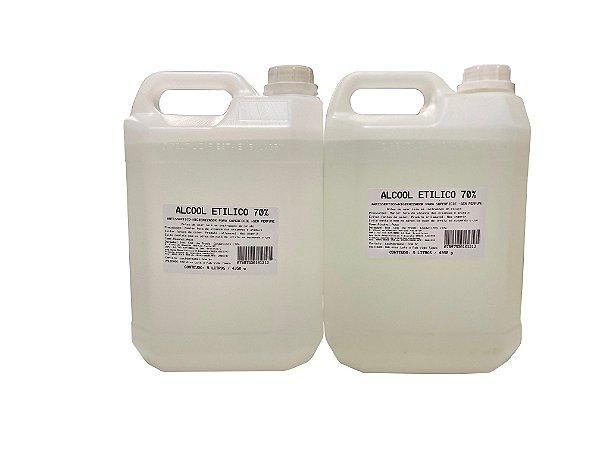 Álcool 70% Hidratado Para Limpeza 5 Litros - 2 Unidades