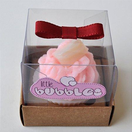 Sabonete Mini Cupcake com topo de Bombom ou Coração - 10 unidades