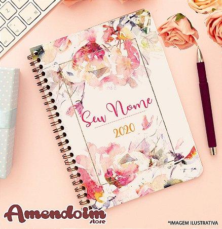 Agenda Personalizada Floral Aquerela